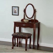 """Heirloom Cherry"" Vanity, Mirror & Bench (G)"