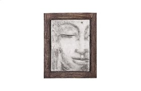 Antique Concrete Buddha Relief Looking Straight