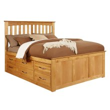 4-3 Queen Pedestal Headboard