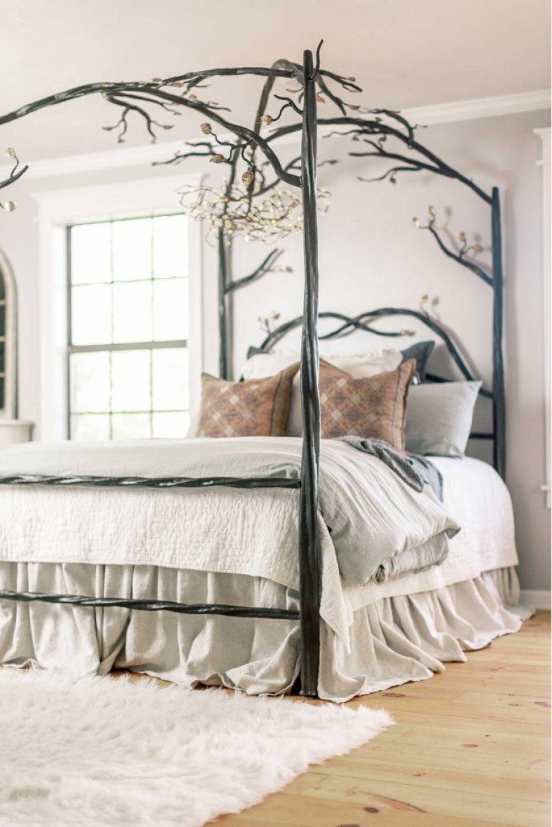 914349 In By Stone County Ironworks In Enchanted Forest Canopy Bed
