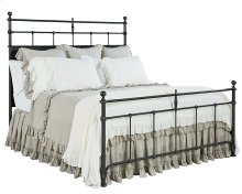 Kettle Trellis Metal Queen Bed