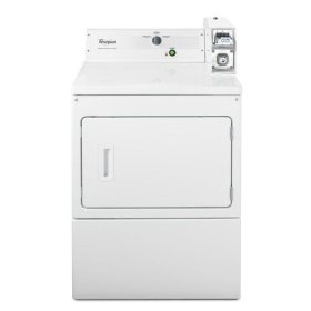 "Whirlpool® 27"" Large Capacity Commercial Gas Dryer - White"