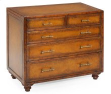 Short Leather Chest of Drawer