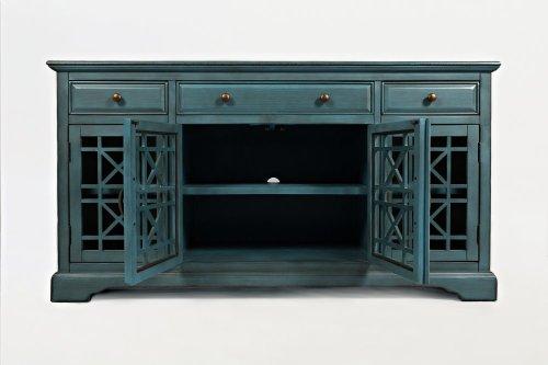 """Craftsman 60"""" Media Unit - Antique Blue"""