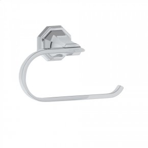 Polished Chrome Perrin & Rowe Deco Wall Mount Toilet Paper Holder