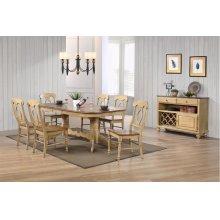 DLU-BR4296-C50-SRPW8PC  8 Piece Double Pedestal Extendable Dining Set with Server