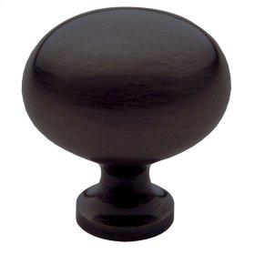 Venetian Bronze Oval Knob