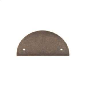 Half Circle Back Plate 3 1/2 Inch (c-c) - German Bronze