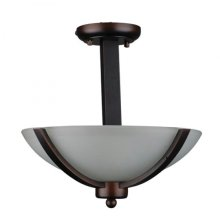 Alta Peak Collection Two Light Semi Flush Mount