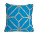 Blue and Gray Diamond Pillow Product Image
