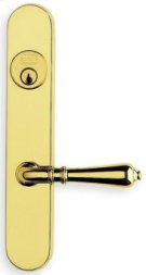 Traditional Narrow Backset Lever Lockset - Solid Brass in SB (Shaded Bronze, Lacquered) Product Image