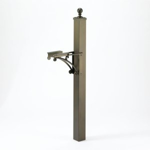 Deluxe Post & Brackets w/ball finial - Bronze Product Image