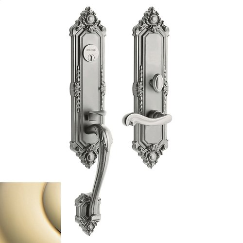 Lifetime Polished Brass Kensington Entrance Trim