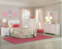 Twin Pink Footboard & Rails