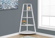 "BOOKCASE - 60""H / WHITE CORNER ACCENT ETAGERE"