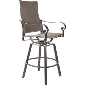 Flex Comfort Swivel Counter Stool With Arms