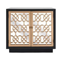 Chloe Mirrored-Door Cabinet