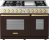 Additional Range DECO 48'' Classic Brown dual color, Gold 6 gas, griddle and 2 electric ovens