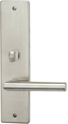 Exterior Modern Mortise Entrance Lever Lockset with Plates in (Interior Modern Mortise Entrance Lever Lockset with Plates - Stainless Steel)