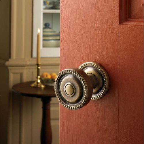 Satin Brass and Black 5065 Estate Knob