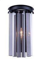 "1208 Sydney Collection Wall Lamp W:8"" H:14"" E5"" Lt:2 Mocha Brown Finish (Royal Cut Silver Shade Crystals) Product Image"