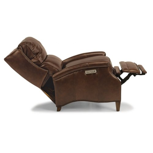 Bishop Leather Power High-Leg Recliner with Power Headrest