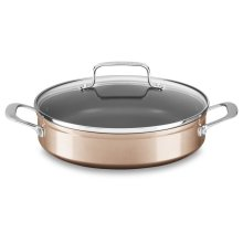 3.3 Quart Hard Anodized Non-Stick Braiser with lid - Toffee Delight