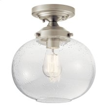 Avery 1 Light Semi Flush Brushed Nickel