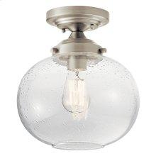 Avery 1 Light Semi Flush Brushed Nickel