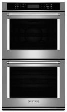 """27"""" Double Wall Oven with Even-Heat™ True Convection (Upper Oven) - Stainless Steel Product Image"""