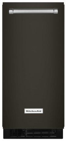 15'' Automatic Ice Maker - Black Stainless