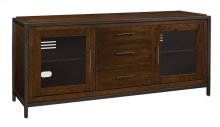 "This classic wood TV stand can accommodate most flat screen TVs up to 70"" o..."