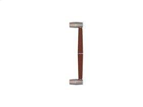Tube Split Stitch In Combination Leather In Chestnut And Satin Nickel