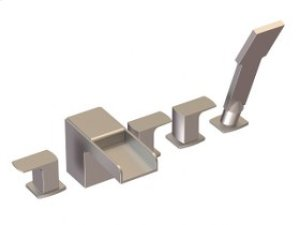 5-Hole Deck Mount Tub Filler - Brushed Nickel Product Image