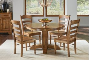Clearance Item--PEDESTAL EXTENSION TABLE with 6 Chairs