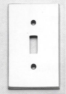 Single Modern Switchplate - Solid Brass in US15 (Satin Nickel Plated, Lacquered)