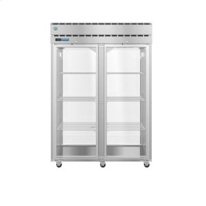 HoshizakiPT2A-FG-FG, Refrigerator, Two Section Pass Thru Upright, Full Glass Doors with Lock