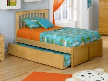 Mission Twin Flat Panel Foot Board with Urban Trundle Natural