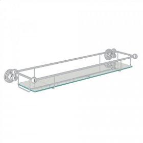 Polished Chrome Perrin & Rowe Edwardian Wall Mount Tempered Glass Vanity Shelf