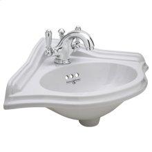 Polished Chrome Perrin & Rowe® Corner Basin & U.3635L Lavatory Faucet Kit