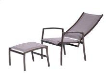 Adjustable High Back Lounge Chair & Ottoman