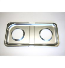 DOUBLE GRAY PORCELAIN PAN RIGHT SIDE GAS