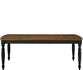 40x66x84 Dining Table Aged Ebony & Espresso