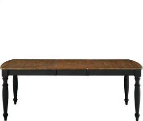 40x66x84 Dining Table Aged Ebony & Espresso