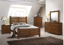 1022 Logan Queen Bed with Dresser & Mirror