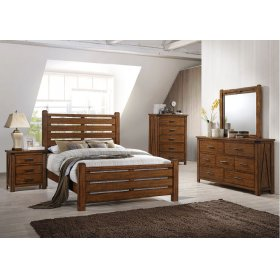 1022 Logan King Bed with Dresser & Mirror
