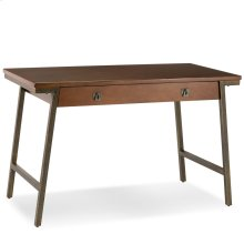 Empiria Mixed Metal and Wood Laptop Computer Desk #11400