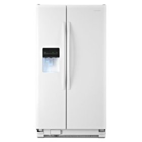 Amana® 35.5-inch Wide Amana® Side-by-Side Refrigerator with Gallon Door Storage Bins -- 24 cu. ft. Capacity - White