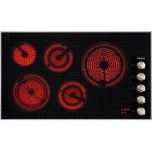 "36"" 5-Burner KM 5627 Classic Cooktop - Ceran® Glass Electric Cooktop (240V)"