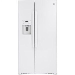GE® 25.1 Cu. Ft. Side-By-Side Refrigerator - WHITE